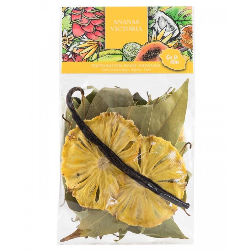 Lot de 4 préparations Rhum arrangé à base de fruits déshydratés