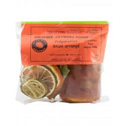 Préparation Rhum Arrangé Orange Citron Combava