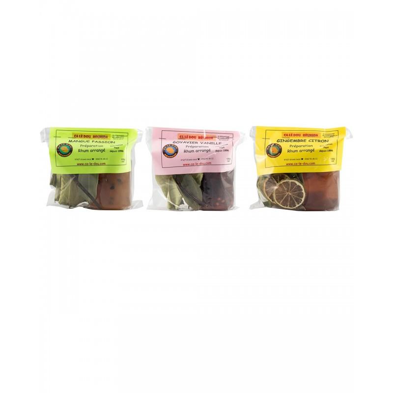 Lot de 3 préparations pour Rhum arrangé avec concentré de fruits